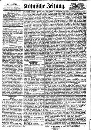 Kölnische Zeitung on Jan 1, 1858