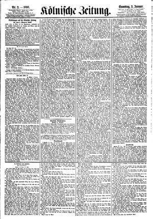 Kölnische Zeitung on Jan 2, 1858