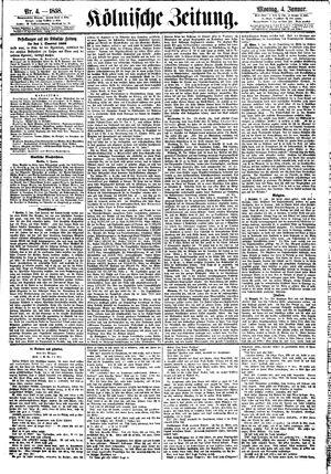 Kölnische Zeitung vom 04.01.1858