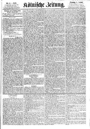 Kölnische Zeitung vom 05.01.1858