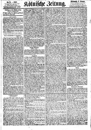 Kölnische Zeitung vom 06.01.1858
