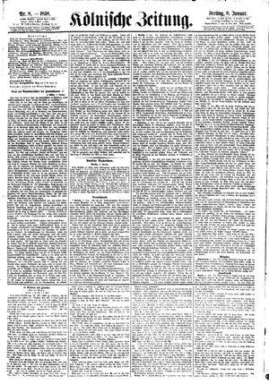Kölnische Zeitung vom 08.01.1858
