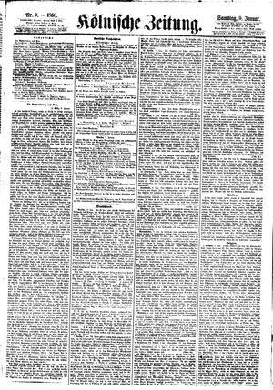 Kölnische Zeitung vom 09.01.1858