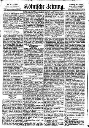 Kölnische Zeitung vom 10.01.1858