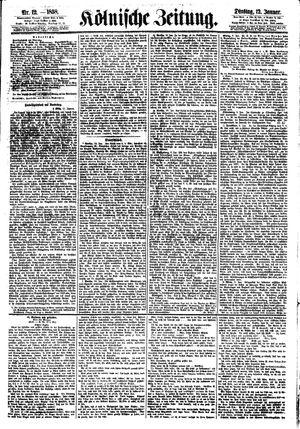 Kölnische Zeitung vom 12.01.1858