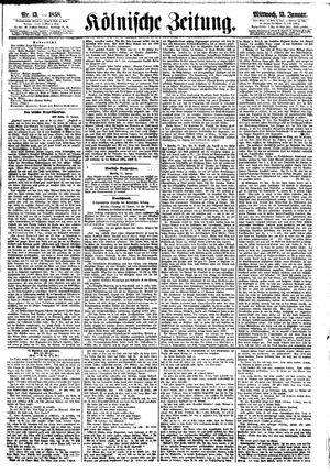 Kölnische Zeitung vom 13.01.1858