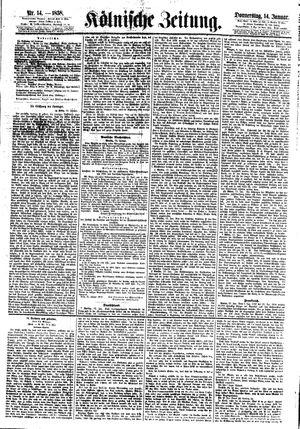 Kölnische Zeitung vom 14.01.1858
