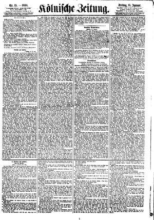 Kölnische Zeitung vom 15.01.1858
