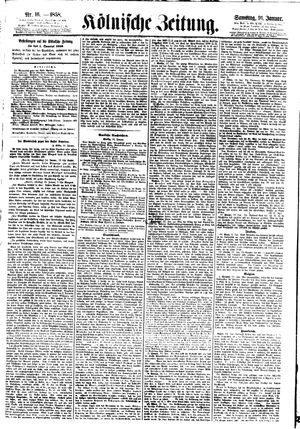 Kölnische Zeitung vom 16.01.1858