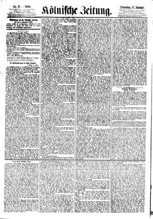 Kölnische Zeitung vom 17.01.1858