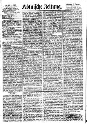 Kölnische Zeitung vom 18.01.1858