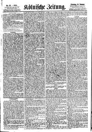 Kölnische Zeitung vom 19.01.1858