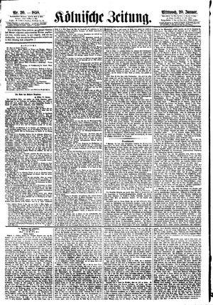 Kölnische Zeitung vom 20.01.1858