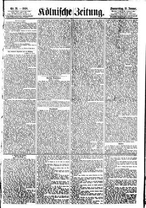 Kölnische Zeitung vom 21.01.1858