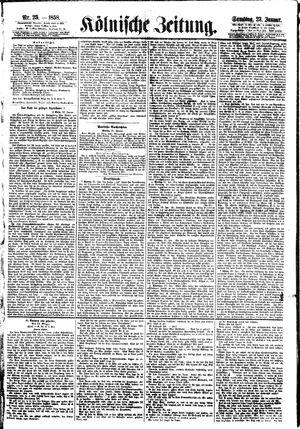 Kölnische Zeitung on Jan 23, 1858