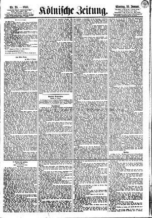 Kölnische Zeitung vom 25.01.1858