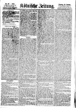 Kölnische Zeitung vom 26.01.1858