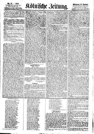 Kölnische Zeitung vom 27.01.1858