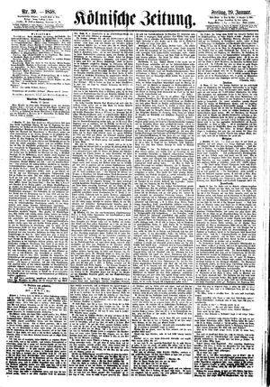 Kölnische Zeitung vom 29.01.1858