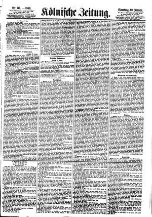Kölnische Zeitung vom 30.01.1858
