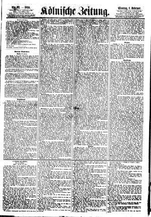 Kölnische Zeitung vom 01.02.1858