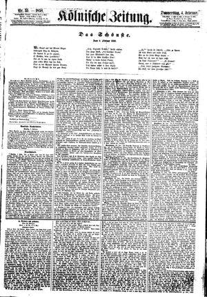 Kölnische Zeitung vom 04.02.1858