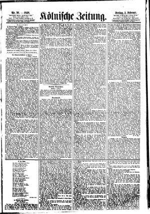 Kölnische Zeitung on Feb 5, 1858