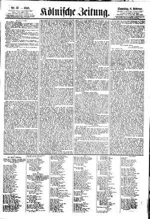 Kölnische Zeitung vom 06.02.1858