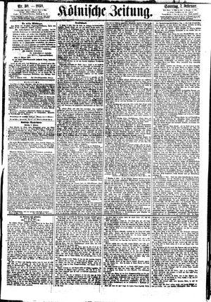 Kölnische Zeitung vom 07.02.1858