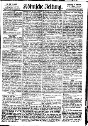 Kölnische Zeitung vom 08.02.1858