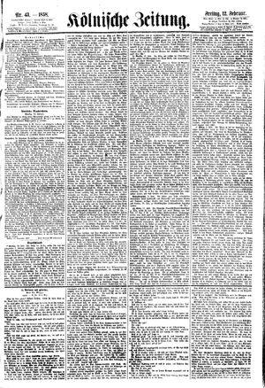 Kölnische Zeitung vom 12.02.1858