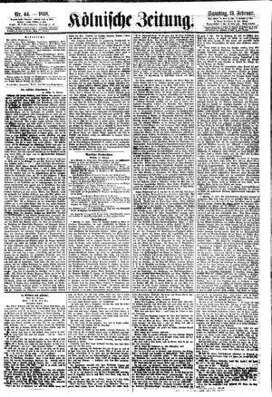 Kölnische Zeitung vom 13.02.1858