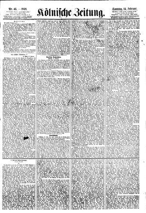 Kölnische Zeitung vom 14.02.1858