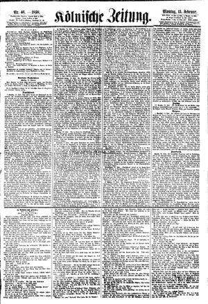 Kölnische Zeitung vom 15.02.1858
