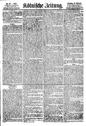 Kölnische Zeitung vom 16.02.1858