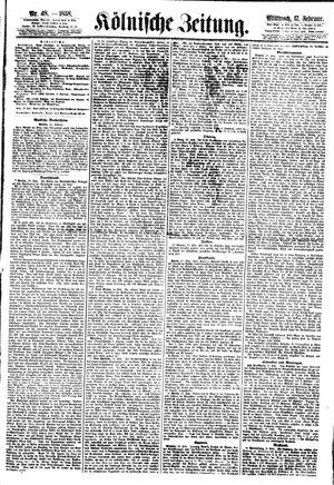 Kölnische Zeitung vom 17.02.1858