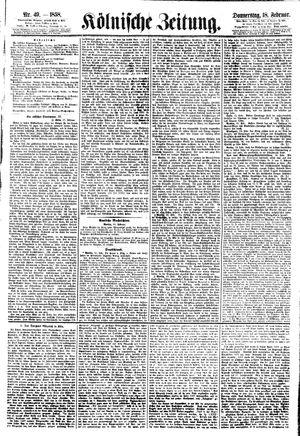 Kölnische Zeitung vom 18.02.1858