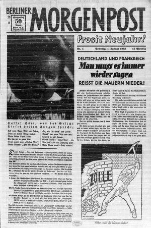 Berliner Morgenpost vom 01.01.1933