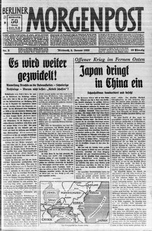 Berliner Morgenpost vom 04.01.1933