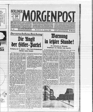 Berliner Morgenpost vom 21.01.1933