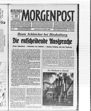 Berliner Morgenpost vom 28.01.1933