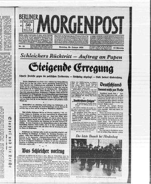 Berliner Morgenpost vom 29.01.1933