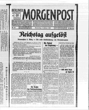 Berliner Morgenpost vom 02.02.1933