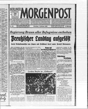 Berliner Morgenpost on Feb 7, 1933