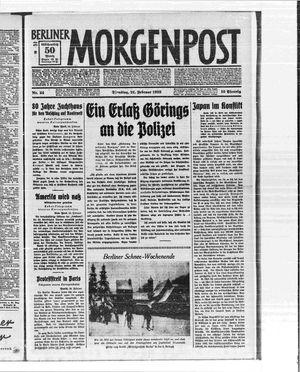 Berliner Morgenpost vom 21.02.1933