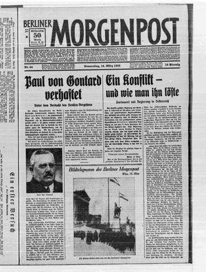 Berliner Morgenpost on Mar 16, 1933