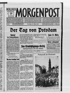 Berliner Morgenpost vom 21.03.1933