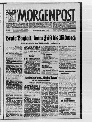 Berliner Morgenpost vom 01.04.1933