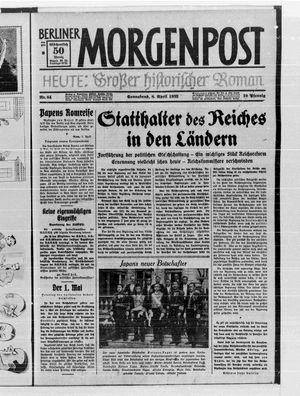 Berliner Morgenpost vom 08.04.1933