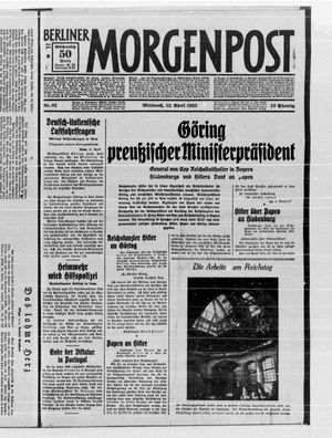 Berliner Morgenpost vom 12.04.1933